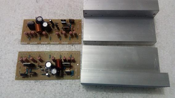 5placa 300 W Amplificador Montada S/ Transistor + Dissipador