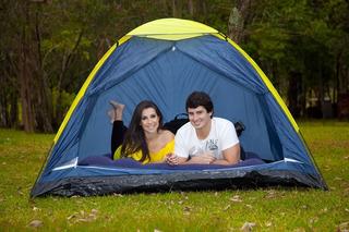 Barraca Camping 4 Pessoas + Colchão Inflavel Casal
