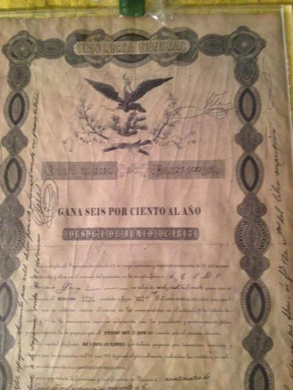 Apolice Black Eagle ( Aguia Negra ) 1843 27,500 Ps