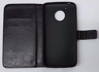 Capa Carteira Couro Moto G5 Tela 5.0 + Pelicula Vidro