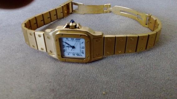 Relógio Cartier Santos Femin Aut Em Ouro 18kl Maciço C/ 99g!