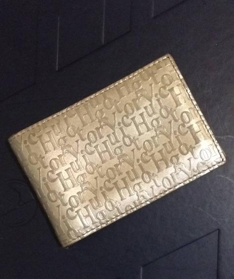 Porta Cartão Original Victor Hugo Dourado Lindo!