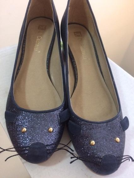 Sapato De Gatinho Di Cristalli