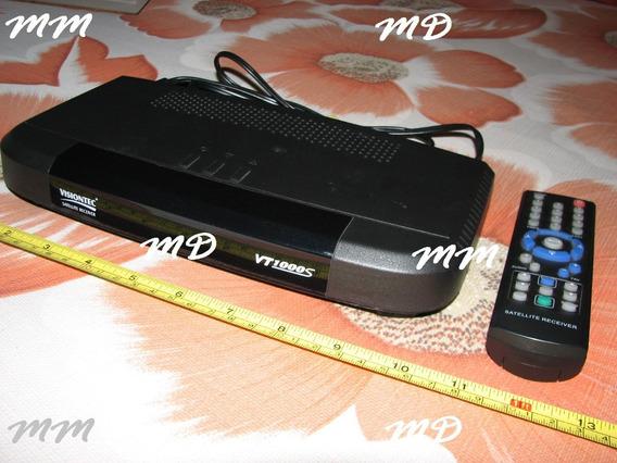 Receptor De Antena Parabólica Visiontec Vt1000 S Cor Prêto