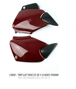 Tampa Lateral Fan125 2006 Vermelho Par S/adesivo + Brinde