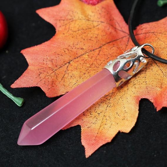 Pedras Cristais Pingente Pedra Cristal Quartzo Rosa Amor