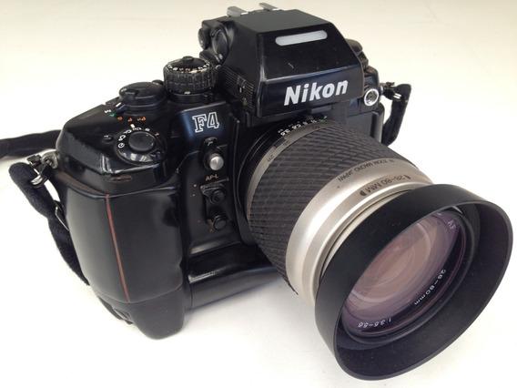 Máquina Fotográfica Nikon F4 Analógica Câmera Lente Tokina