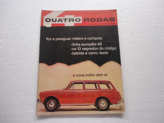 Revista 4 Rodas Antiga Novembro 1965 / 64