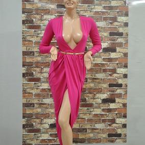 Vestidos de fiesta largos color fucsia