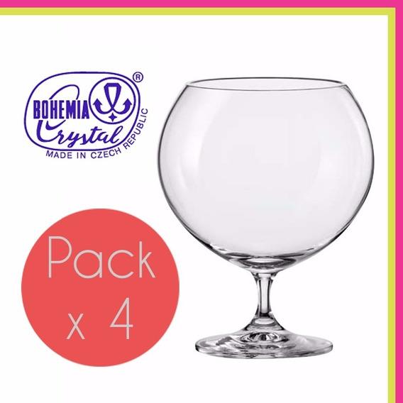 Copa Copon Cristal Bohemia Brandy Coctel 1010 Ml Set X4