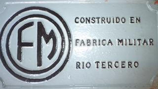 Placa Vagón Carga Ferrocarril Fab. Militares Río Tercero