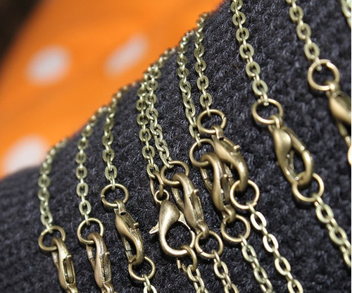 2 Cadenas Collar P/ Elaborar Diseño Artesanal Combo