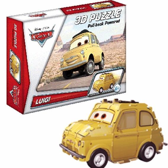 Quebra Cabeça 3d Carros Luigi Movido A Fricção Dtc