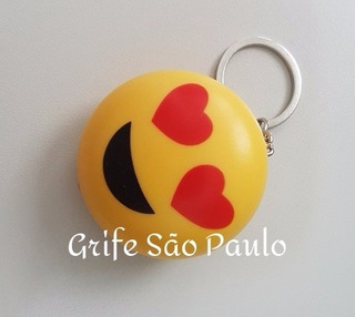 Kit 35 Chaveiros Emoji Whatsapp Emoticon Carinha Luz Led Som