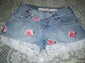Shorts Jeans M.oficer Customizado Tamanho 40