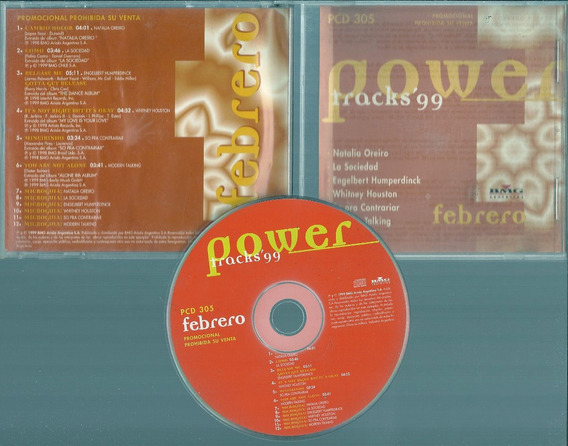 Power Tracks 99 Natalia Oreiro Modern Talking W.houston Cd
