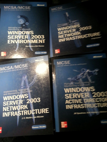 4 Libros Microsoft Windows 2003 Certificacion