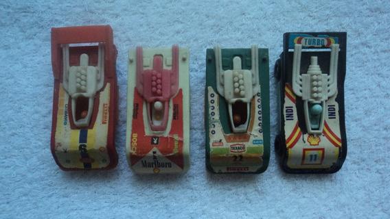 Lote De 8 Miniaturas Carros De Corrida Plástico Duro Déc 80