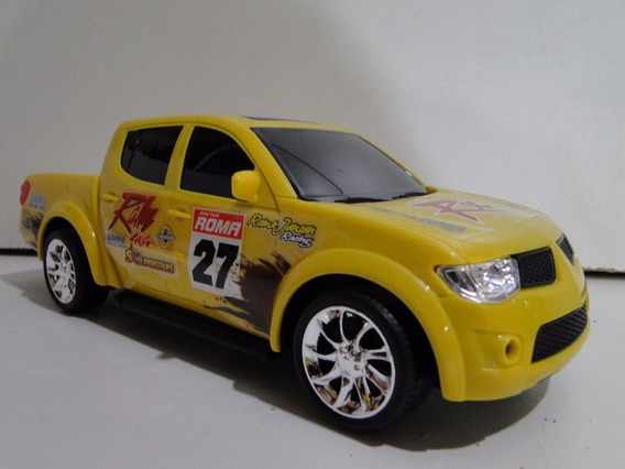 01(uma) Mitsubishi L200 Triton Rallye Amarela Sport Pickup
