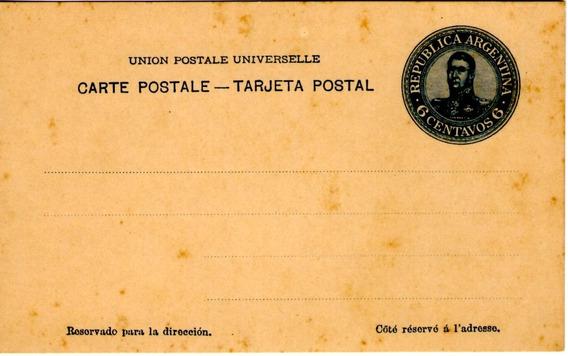 Carta Postal Sin Circular 6 Centavos Año Aprox 1890