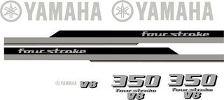 Kit Stickers Lancha Tapa Motor Yamaha 350, 200, 40, 75, 25
