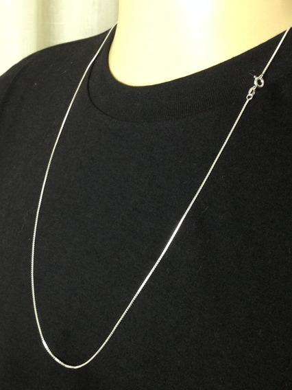 Corrente Veneziana Prata 925 Cordão Masculina Feminina 60cm