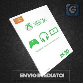 Microsoft Gift Card 30 Reais Cartão Presente Xbox Live Br
