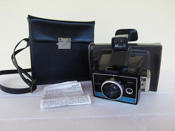 Antiga Câmera Polaroid Colorpack I I Com Estojo E Manual