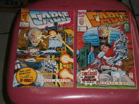 Cable Dos X-men - Miniserie Em 2 Partes Raro E Antigo