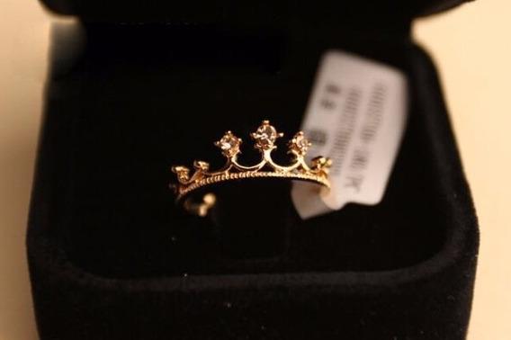 Anel Falange Coroa Lisa Dourado Feminino Presente Nº18