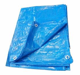 Toldo 5 X 5 Lona Azul Plastico Impermeavel Multiuso Nove 54