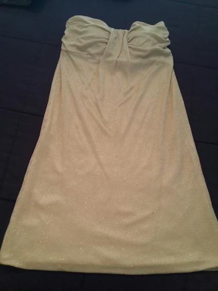 Vestido Strapless Mujer Fiesta Nude Con Brillo. Divino!!!!