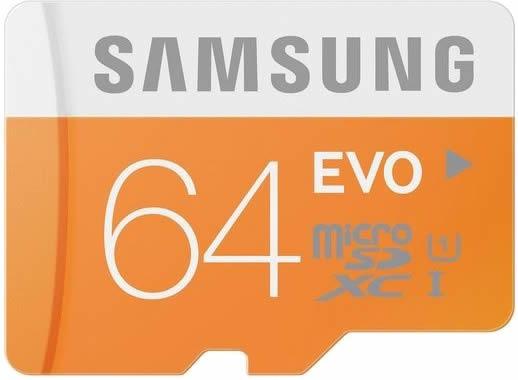 Samsung Micro Sdhc 64gb Classe 10 Evo 48mb/s Sd Original