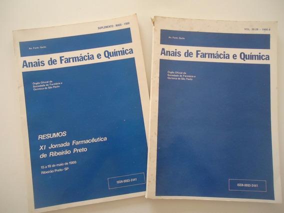 Anais De Farmácia E Química Anos 1986 E 1988 - Preço Do Lote