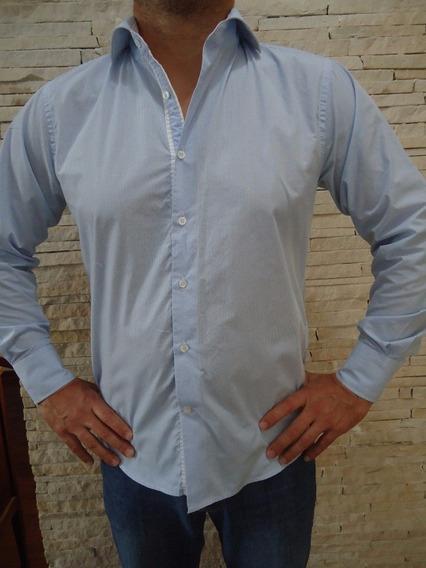 Camisa Listrada Azul G Marca J Vernier Pra Fazer Sucesso!