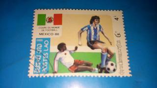 Estampilla Del Mundial Mexico 86 - Estampilla De Coleccion