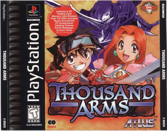 Thousand Arms - Playstation 1 - Psx 1998 - Psone Rpg - Ps1
