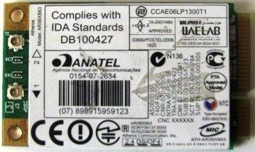 Tarjeta Placa Wifi Anatel Ath-ar5bxb63 Db100427 Compatible