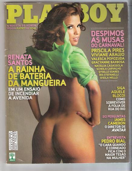 Playboy 417 (fev 2010) Renata Santos / Pedro Bial ( Frete Gr