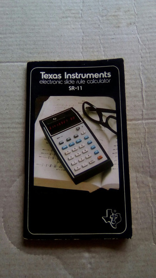 Manual Calculadora Texas Instruments Sr-11