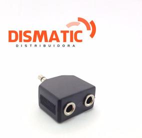 Plug Adaptador P2 J2 3,5mm Jack Stereo 1 Macho Para 2 Fêmeas