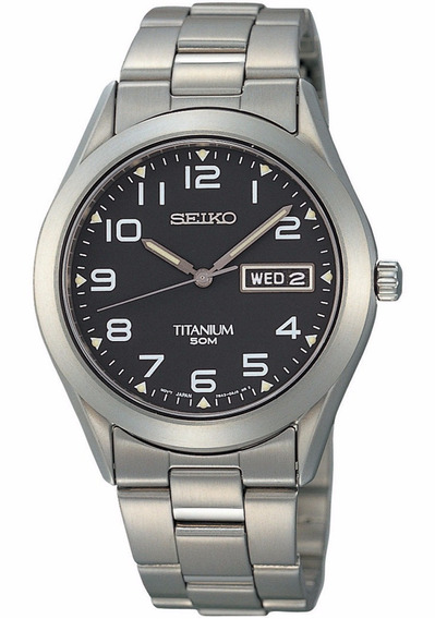 Reloj Seiko Análogo Titanio Negro Cuarzo Sgg711