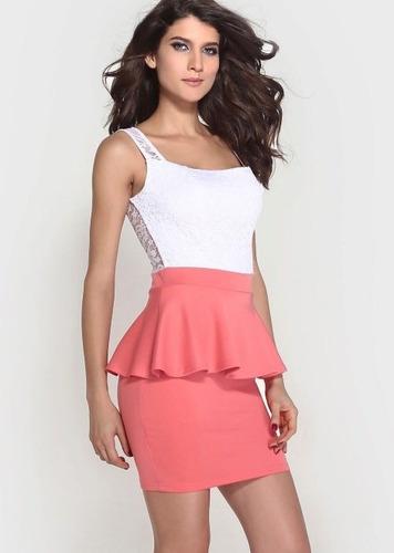 Vestido Con Encaje Spandex Talla S Colores Nuevo Importado