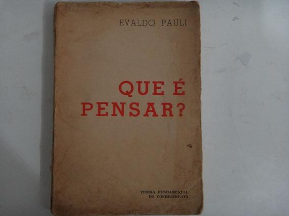 Que É Pensar Evaldo Pauli