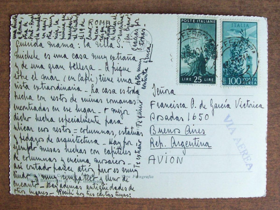 Italia - Postal Enviada A Argentina Via Aerea 1948 L1433