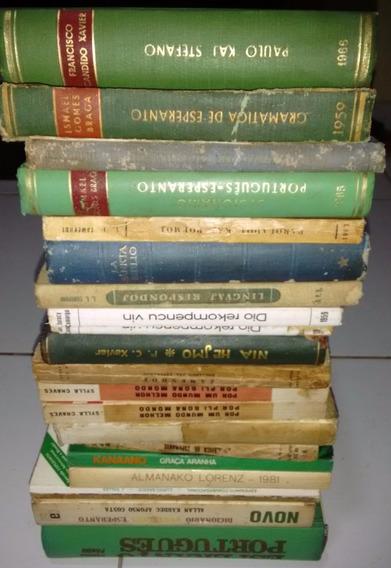 Livros Raros De Esperanto - Lote 20 Unidades