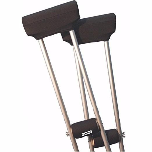 Cubierta Para Muletas Crutcheze Black Underarm Crutch Pad