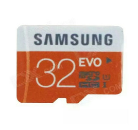 Genuine Samsung Cartão Micro Sd / Tf - Preto + Laranja (32gb
