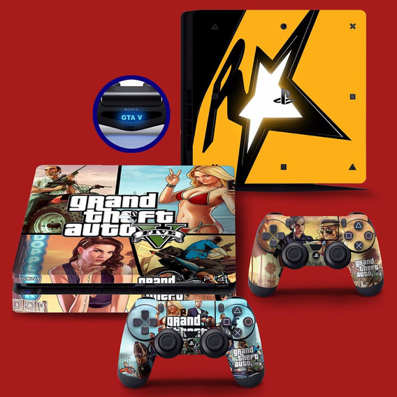 Skin Adesivo Ps4 Playstation 4 Slim Gta V 5