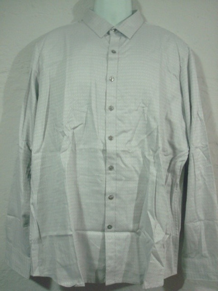 Camisa Marc Anthony Gris Con Ovalos Talla Xl Slim Fit